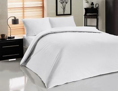 fabrikalite 52 Tel %100 Pamuk Çift Kişilik Otel nevresimi 200x230 Beyaz
